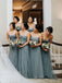 Simple Sweetheart Tulle Charming Floor-length Evening Dresses Bridesmaid Dresses.PB1242