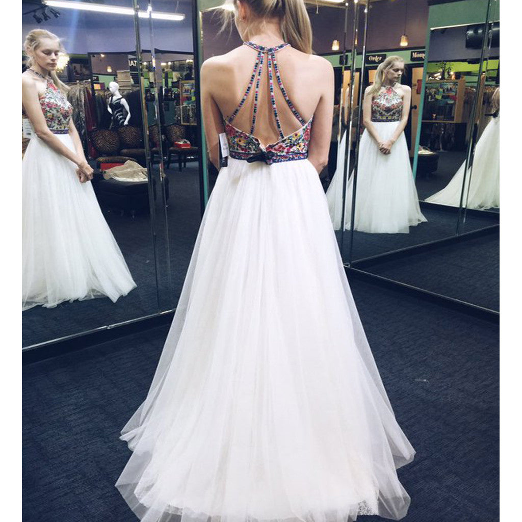 New Vintage Unique Style Sparkly Ball Gown Pretty Long Evening Pom ...