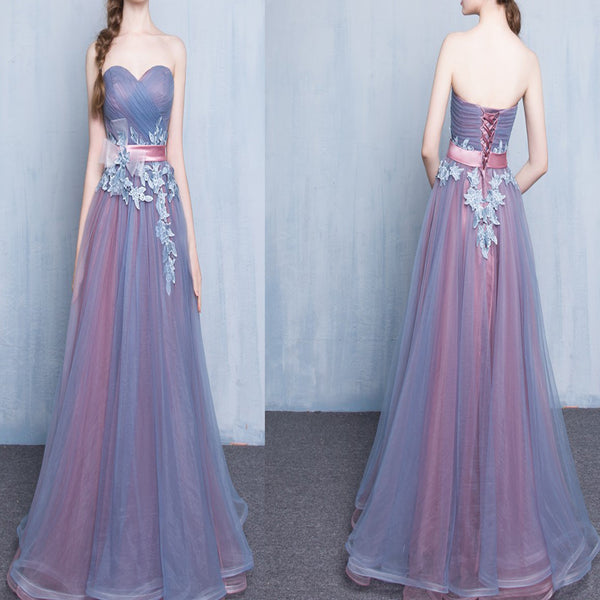 Long Unique Sweetheart Floor Length Evening Party For Teens Prom Dresses. RG175