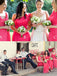 Charming Mismatched Hot Pink Sleeveless Simple Cheap Wedding Party Long Bridesmaid Dresses,PB1012