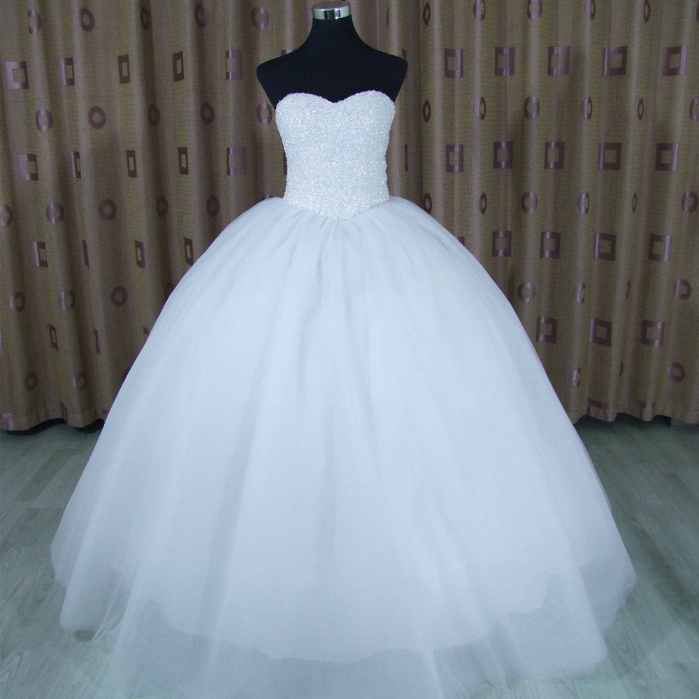 88ee302a2d Strapless Sweetheart Ball Gown Wedding Dresses With Bling - raveitsafe