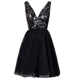 2017 Sequined sparkly open back V-neck sexy Evening Cocktail homecoming prom dress,BD0051