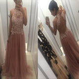 New Arrival Long Beaded Real Made Charming Sexy Evening Party Prom Dresses RG0118