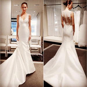 Classic Elegant Simple Modest Lace Cheap Bridal Gown Wedding Dresses, WD0202
