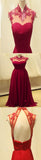 New High Neck Red Vintage Unique Style Formal Long Prom Dress ,RG0156