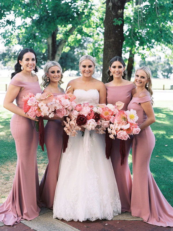 Sexy Simple Straight Mermaid Evening Dresses Bridesmaid Dresses.PB1232
