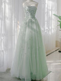 New Arrival Straight Tulle Lace Long Prom Dresses Evening Prom Dresses.PB1122