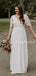 Best V-neck Lace Chiffon Open Back Romantic Wedding Dresses Evening Dresses.PB1127