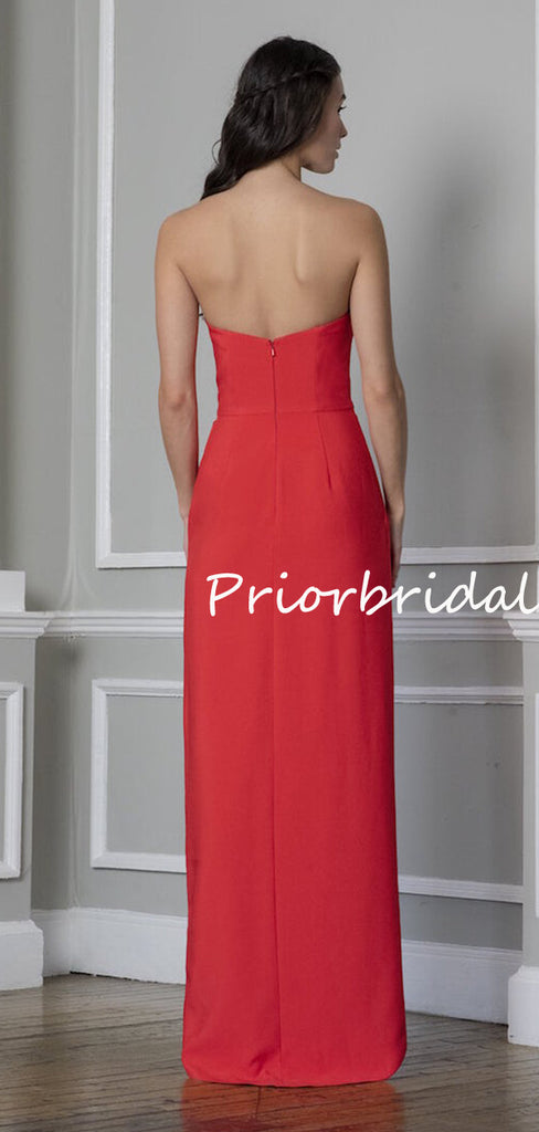 Elegant Beautiful Straight Simple Wedding Party Evening Long Bridesmaid Dresses. PB1188