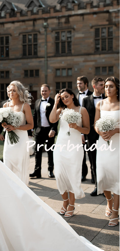 Charming Spaghetti Strap Knee-length Sleeveless Simple Wedding Dresses Bridesmaid Dresses.PB1207