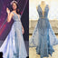 Blue Appliqued Junior Ball Gown Charming Formal Evening Prom Dress. PD022