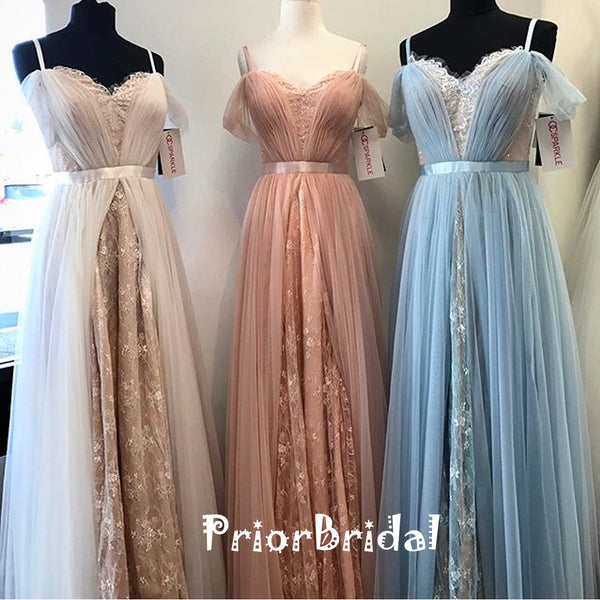 2018 Popular Elegant Off Shoulder Spaghetti Strap Sweetheart  A-line Prom Dresses,PB1029