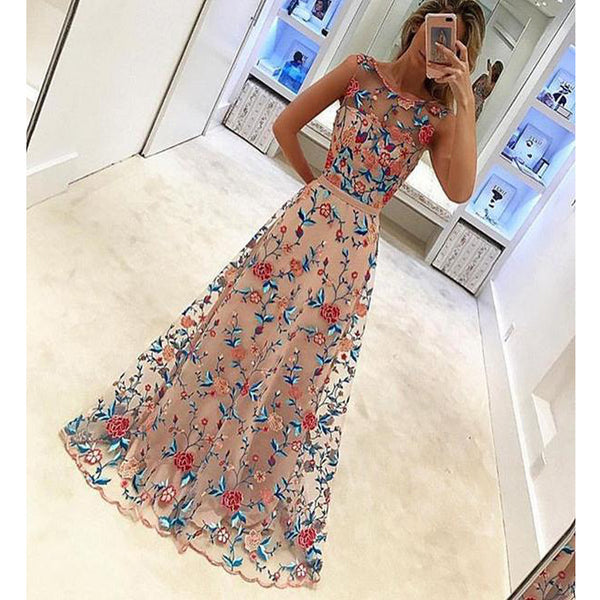 2017 Appliques Junior Unique Vintage Formal Evening A-line Prom Dress, RG071