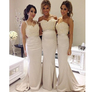 Lace Different Style Mermaid Elegant With Appliques Women Wedding Party Long Bridesmaid Dresses.RG0003
