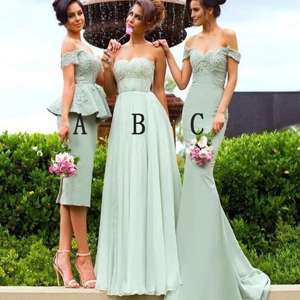 Lace Different Style Unique Mint Sexy Women Wedding Part Bridesmaid Dresses. RG0004