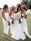 Charming Spaghetti Strap Side Slit Simple Wedding Dresses Bridesmaid Dresses.PB1208