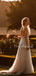 Beautiful Lace Tulle A-line 1/2 Sleeve Long Wedding Dresses For Wedding.PB1134