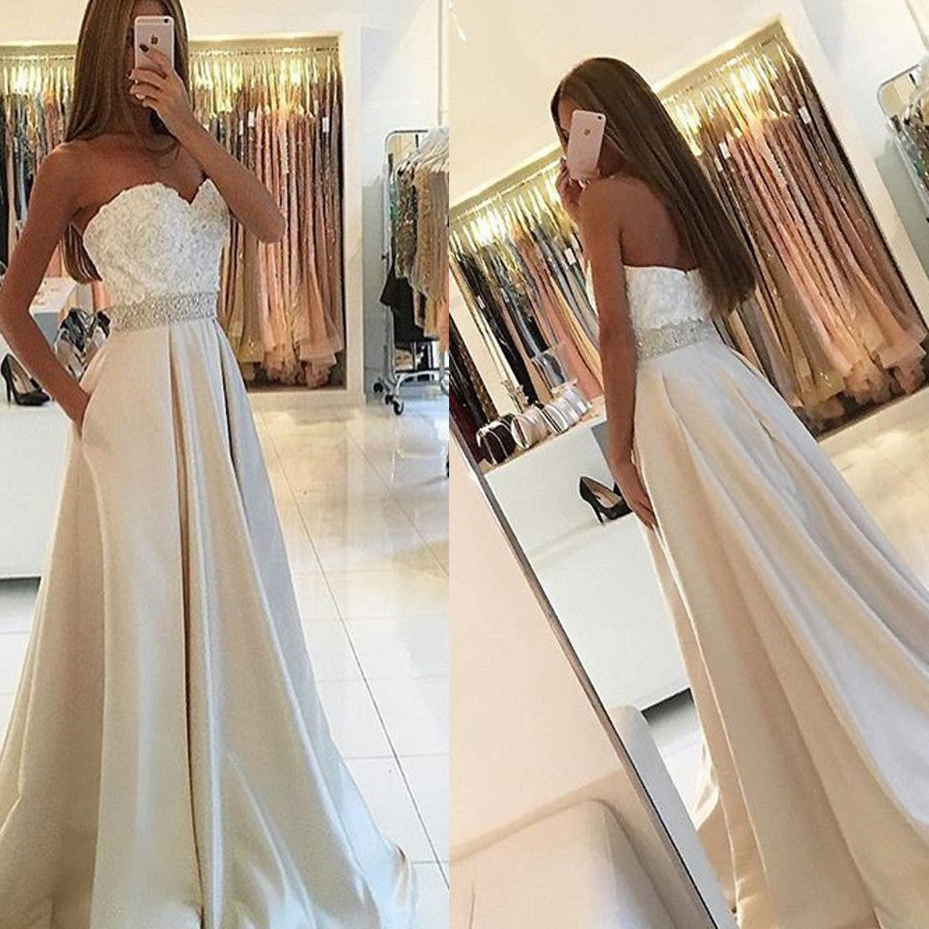 Long Vintage Sweetheart Ball Gown Simple Elegant Country Formal Evening Party Prom Dresses. ,RG0092
