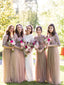 Elegant Beautiful Scoop Neck Sequin Tulle Wedding Party Evening Long Bridesmaid Dresses. PB1190