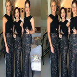 Vintage Black With Lace Unique Simple Mermaid For Weddings Bridesmaid Dresses. RG217