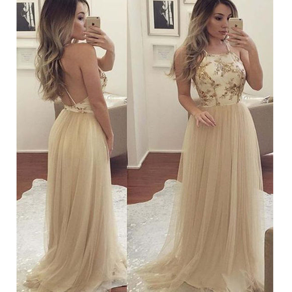 2017 New Backless Sexy Vintage Unique Gorgeous Hot Sale Prom Dress. PB1008