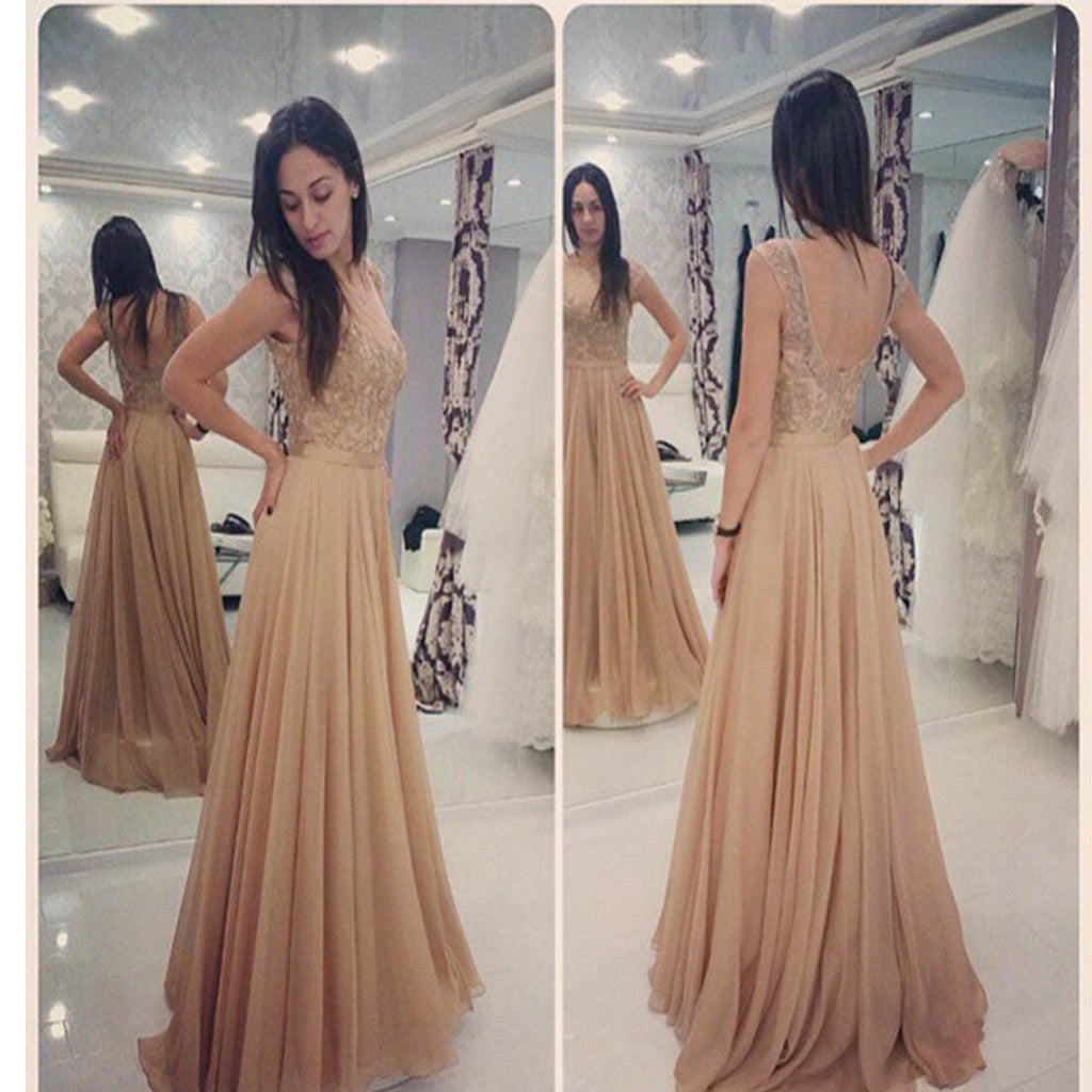 A-line With Appliques Elegant Cocktail For Young Girls Evening Prom Dresses.PB1009