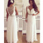 White Beading Sparkly Chiffon Elegant Vintage Sleeveless Formal Evening Prom Dresses. RG0205