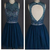 Popular sparkly open back freshman homecoming prom gowns dress,BD0077