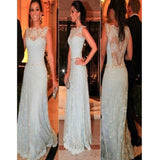 Charming Light Sky Blue Lace Sexy Formal Evening Party Prom Dresses. RG0012