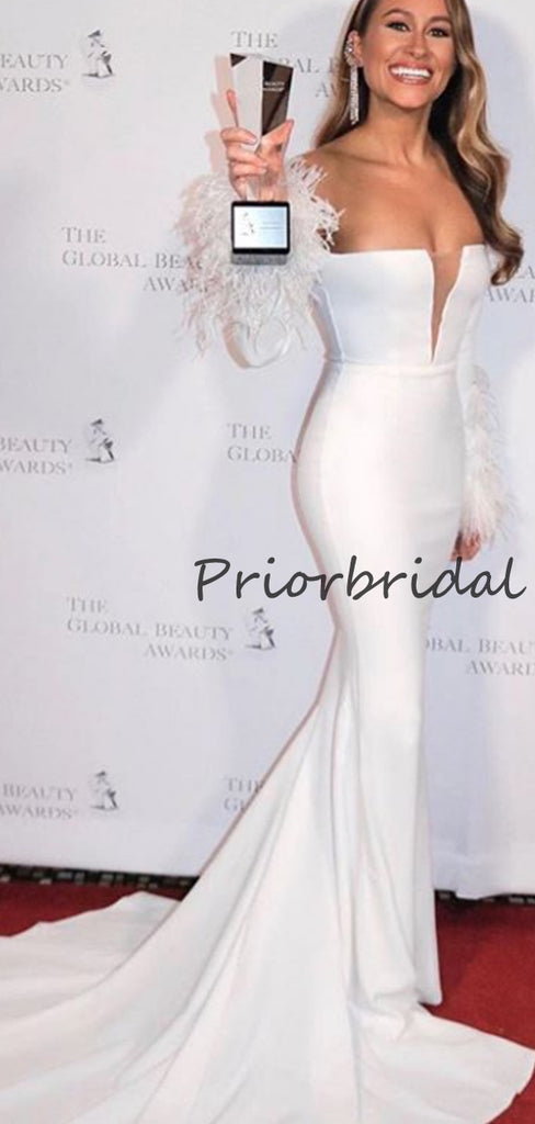 Elegant Cocktail Straight Mermaid For Young Girls Evening Long Prom Dresses.PB1204