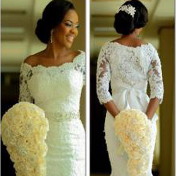 Chic Design Sweetheart Two Pieces Backless Lace Tulle Plush Size Wedding Party Dresses, WD0201