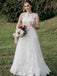 VintageTulle Lace A-line Sleeveless Long Wedding Dresses.PB1259