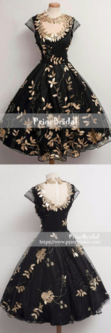 products/Black_Golden_Leaves_Appliques_Stunning_Cap_Sleeves_Homecoming_Dresses_BD00212-2.jpg