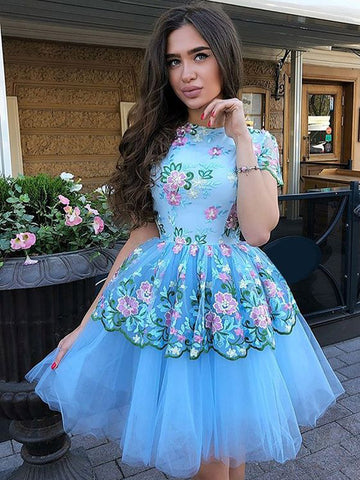 products/Blue_Floral_Prints_Tulle_Short_Sleeves_Charming_Homecoming_Dresses_BD00229-1.jpg