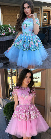 products/Blue_Floral_Prints_Tulle_Short_Sleeves_Charming_Homecoming_Dresses_BD00229-2.jpg