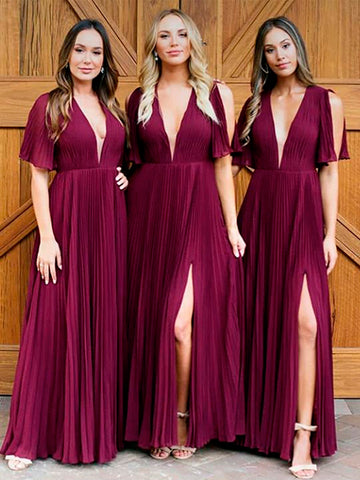 products/Burgundy_Chiffon_V-neck_Half_Sleeve_Side_Slit_A-line_Bridesmaid_Dresses_PB1080-1.jpg