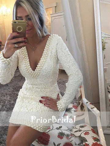 products/Ivory_Lace_Beads_V-neck_Long_Sleeves_Tight_Sheath_Party_Homecoming_Dresses_BD00213-1.jpg