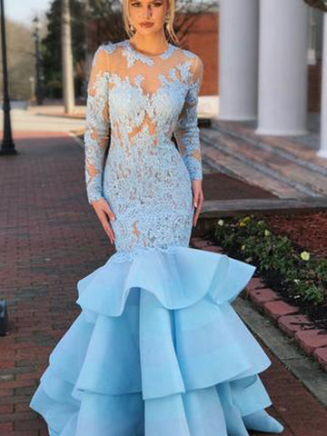 products/Pale_Blue_Tiered_Organza_Mermaid_Lace_Long_Sleeve_Prom_Dresses_PB1068-1.jpg
