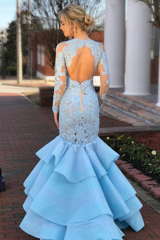 products/Pale_Blue_Tiered_Organza_Mermaid_Lace_Long_Sleeve_Prom_Dresses_PB1068-3.jpg