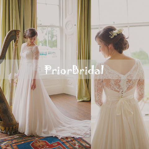 products/Simple_Ivory_Lace_Top_Chiffon_Cheap_Wedding_Dresses_With_Sleeves_RG0404-1.jpg
