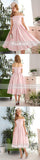 Simple Off Shoulder Pink Satin Lace Up Back Sweet Homecoming Dresses , BD00205