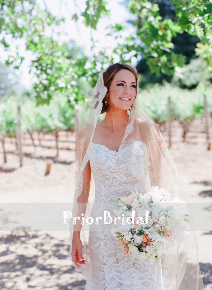 3f6ca90731 ... Strapless Fully Lace Nude Lining Classic Wedding Dresses