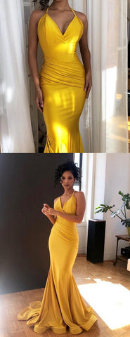products/Yellow_Jersey_Spaghetti_Strap_Mermaid_V-neck_Bridesmaid_Dresses_PB1054-2.jpg