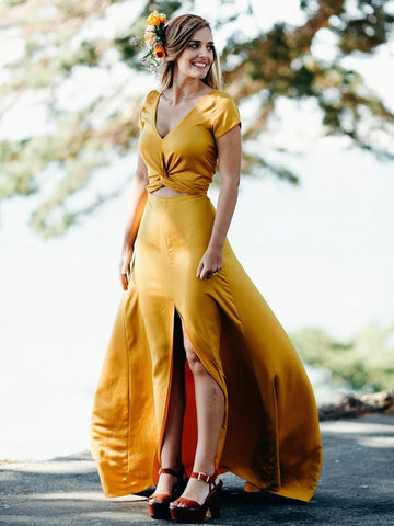 products/Yellow_Short_Sleeve_Front_Slit_A-line_Long_Bridesmaid_Dresses_PB1071-1.jpg