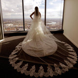 Spaghetti Strap Sweetheart Mermaid Lace Beading Tulle Trailing Wedding Dress. RG0190