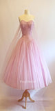 Vintage A Line Sweetheart Pink Homecoming Dress KB1107