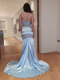 Two Pieces Halter Long Evening Prom Dresses, Sweet 16 Prom Dresses, PY002
