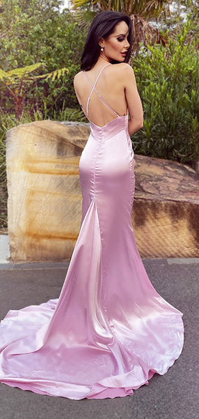 Sexy Mermaid Spaghetti Straps Evening Prom Dresses, Cheap Prom Dresses, PY013