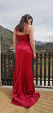 Lace Spaghetti Straps Sleeveless Custom Evening Prom Dresses, Prom Dresses, PY068