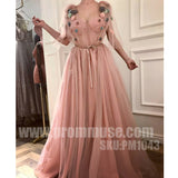Charming Sweetheart Tulle Unique Formal Pretty Affordable Long Prom Dresses, PM1043 - Prom Muse